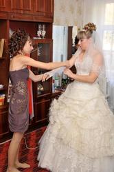 Продам свадебное платье - цвет слоновой кости
