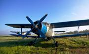 Самолет Ан-2 для химической обработки кукурузы и подсолнечника